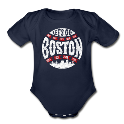 Let's Go Boston Infant One Piece - dark navy