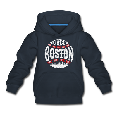 Let's go Boston Youth Sweatshirt - navy