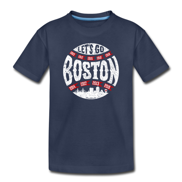Let's Go Boston Toddler T-Shirt - navy