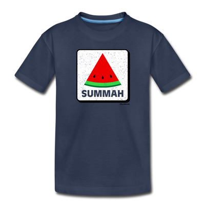Summah Watermelon Toddler T-Shirt - navy