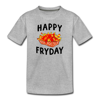Happy Fryday Toddler T-Shirt - heather gray
