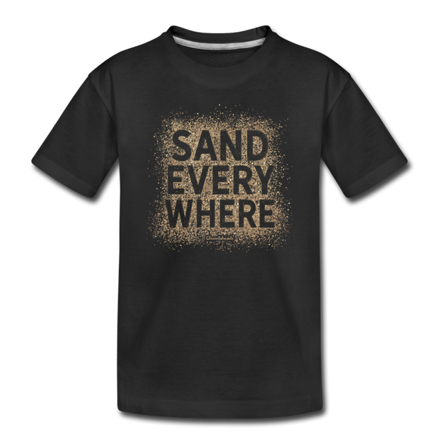 Sand Everywhere Toddler T-shirt - black
