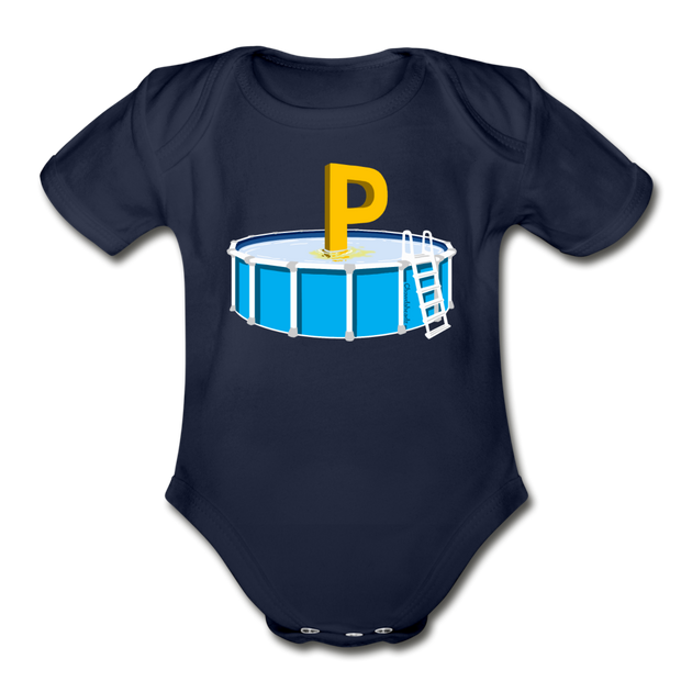 P in the Pool Infant One Piece - dark navy
