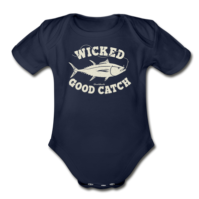 Wicked Good Catch Infant One Piece - dark navy
