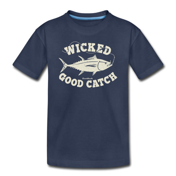 Wicked Good Catch Toddler T-Shirt - navy