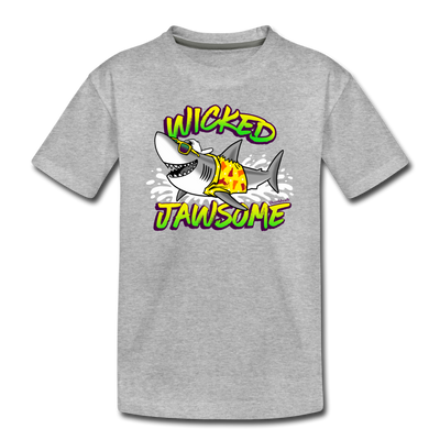 Wicked Jawsome Toddler T-Shirt - heather gray