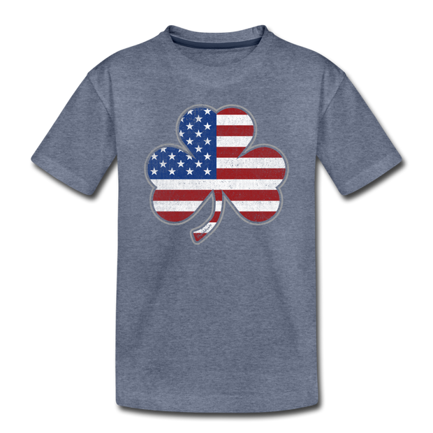 Shamrock Stars & Stripes Toddler T-Shirt - heather blue