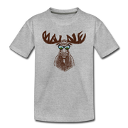 Cool Maine Moose Toddler T-Shirt - heather gray