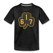 617 Black & Gold Street Shamrock Toddler T-Shirt - charcoal gray