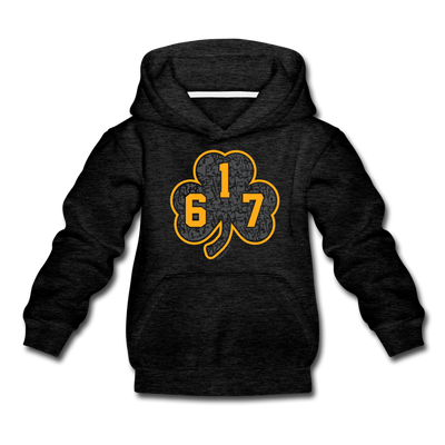 617 Black & Gold Street Shamrock Youth Sweatshirt - charcoal gray
