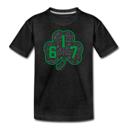 617 Green Street Shamrock Toddler T-Shirt - charcoal gray