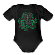617 Green Street Shamrock Infant One Piece - black