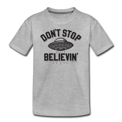 Don't Stop Believin' Toddler T-Shirt - heather gray