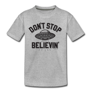 Don't Stop Believin' Youth T-Shirt - heather gray