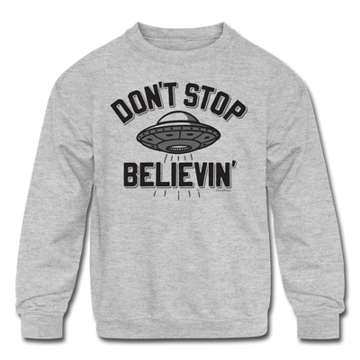 Don't Stop Believin' Youth Sweatshirt - heather gray