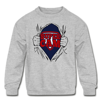 Super Cam Fan of Steel Youth Sweatshirt - heather gray