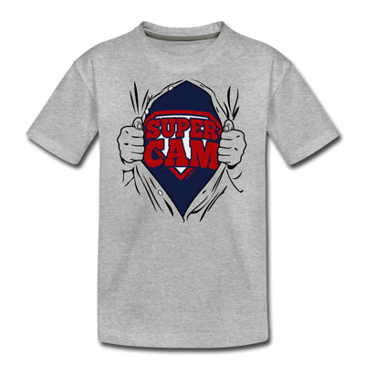 Super Cam Fan of Steel Youth T-Shirt - heather gray