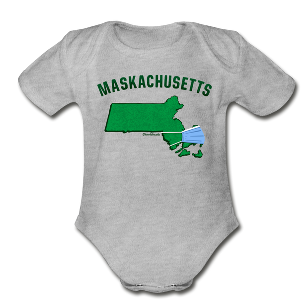 Maskachusetts Infant One Piece - heather gray