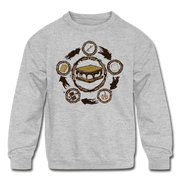 S'more Recipe Youth Sweatshirt - heather gray