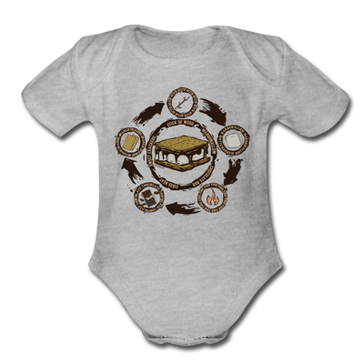 S'more Recipe Infant One Piece - heather gray