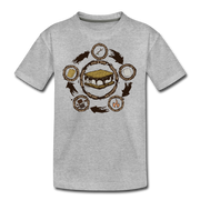 S'more Recipe Youth T-Shirt - heather gray