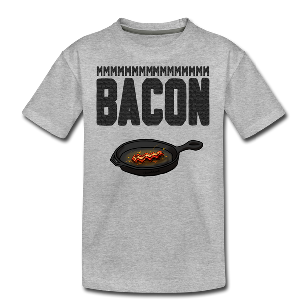 MMM...Bacon Youth T-Shirt - heather gray
