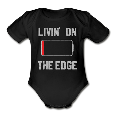 Livin' On The Edge Infant One Piece - black