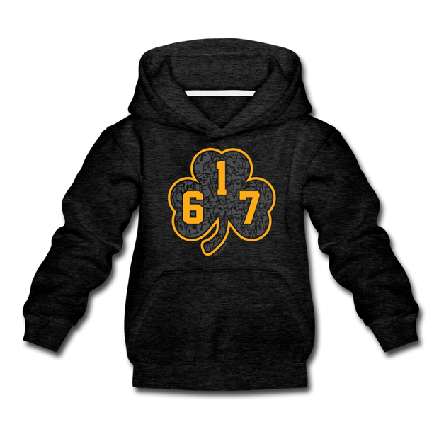 617 Black & Gold Street Youth Sweatshirt - charcoal gray