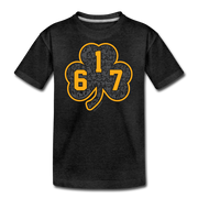 617 Black & Gold Street Youth T-Shirt - charcoal gray