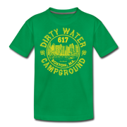 Dirty Water Campground  Youth T-Shirt - kelly green
