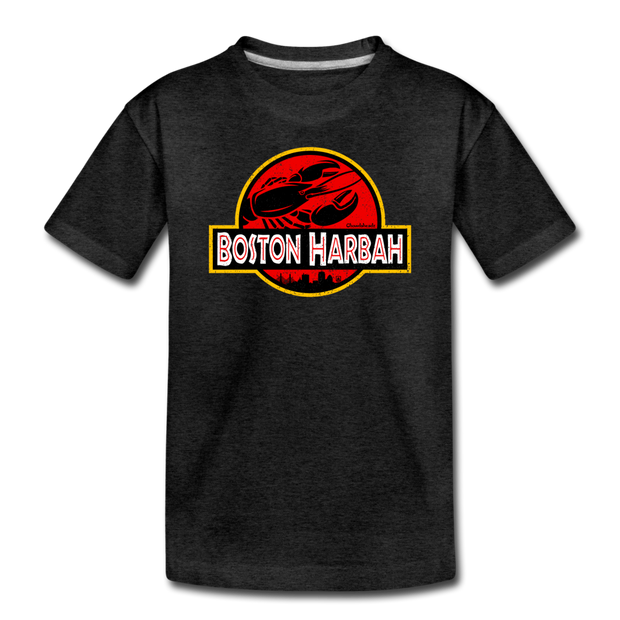 Boston Harbah Lobstah Toddler T-Shirt - charcoal gray