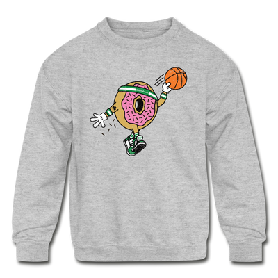Dunking Doughnut Youth Sweatshirt - heather gray