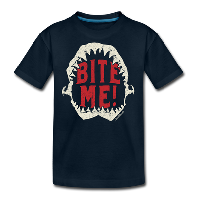 Bite Me! Youth T-Shirt - deep navy