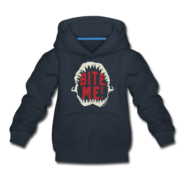 Bite Me! Youth Sweatshirt - navy