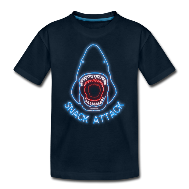 Snack Attack Youth T-Shirt - deep navy