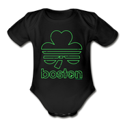 Boston Shamrock Neon Sign Infant One Piece - black