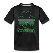 Boston Shamrock Neon Sign Youth T-shirt - charcoal gray