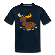 Moose Float Toddler T-Shirt - deep navy