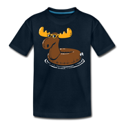Moose Float Youth T-Shirt - deep navy