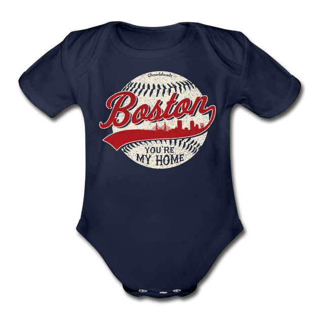 Boston You're My Home Infant One Piece - dark navy