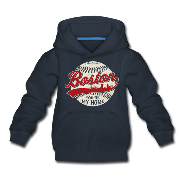 Boston You're My Home Youth Sweatshirt - navy