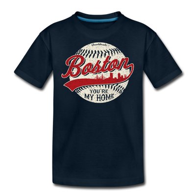 Boston You're My Home Youth T-shirt - deep navy
