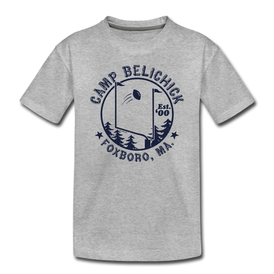 Camp Belichick Foxboro Toddler T-Shirt - heather gray