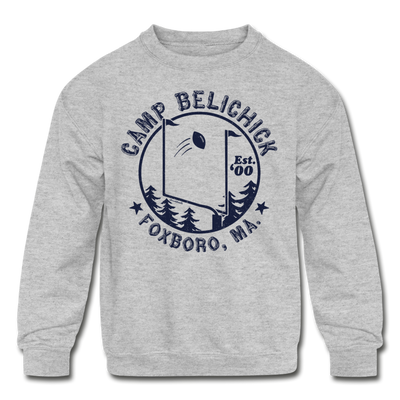 Camp Belichick Foxboro Youth Sweatshirt - heather gray
