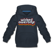 Wicked Awesome Retro Youth Sweatshirt - navy