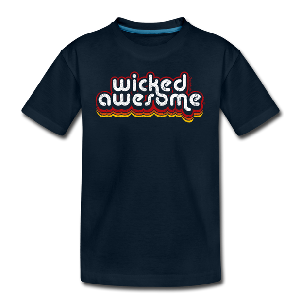 Wicked Awesome Retro Toddler T-Shirt - deep navy