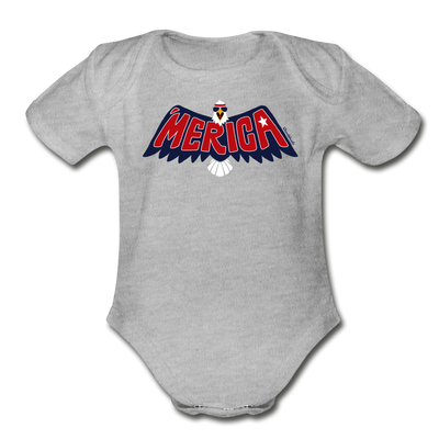 'Merica Eagle Infant One Piece - heather gray
