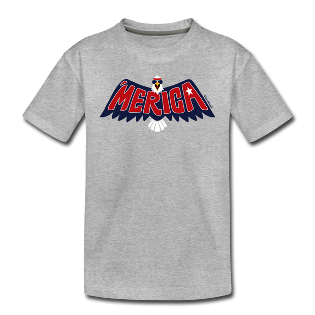 'Merica Eagle Toddler T-Shirt - heather gray