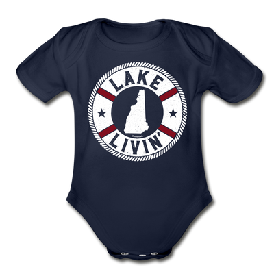 Lake Livin' Infant One Piece - dark navy