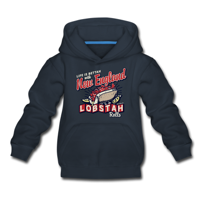New England Lobstah Rolls Youth Sweatshirt - navy